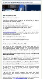SW Newsletter Ausgabe I/2008 - Südwest Finanz Vermittlung ...