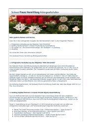 Newsletter Webseite - Südwest Finanz Vermittlung ...