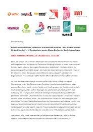 Pressemitteilung: Offener Brief - Welthungerhilfe