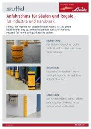 Anfahrschutz für Säulen und Regale - für Industrie und ... - suffel