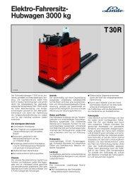 Elektro-Fahrersitz- Hubwagen 3000 kg T30R - suffel