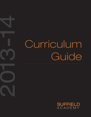2013-2014 Curriculum Guide - Suffield Academy