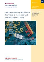measures and mensuration in number - Suffolk Maths