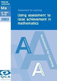 2003 Using assessment to raise achievement in ... - Suffolk Maths