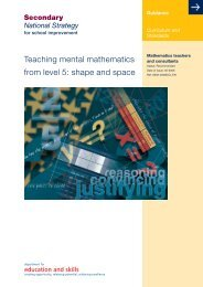 Teaching mental mathematics from level 5: shape ... - Suffolk Maths