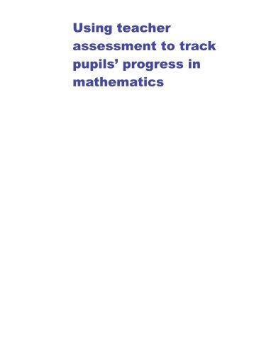 Using teacher assessment to track pupils' progress in ... - Suffolk Maths
