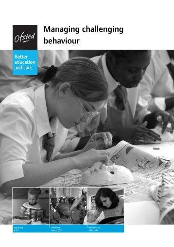 Managing challenging behaviour - Suffolk Maths