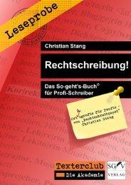 Leseprobe: Rechtschreibung! Das So-geht's-Buch für Profi-Schreiber