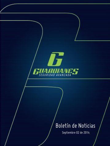 Boletín informativo de seguridad Guardianes 02-09-2014