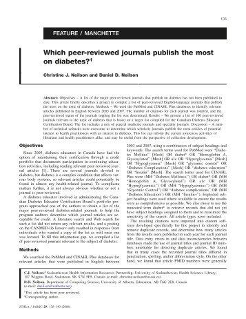 Article Review of Peer Reviewed Journal&nbspEssay