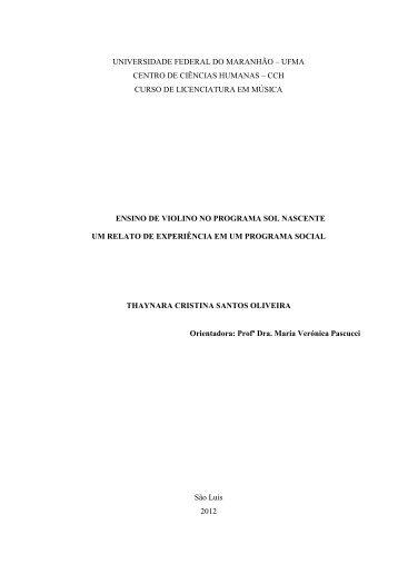Acessar - Curso de Música - Universidade Federal do Maranhão ...