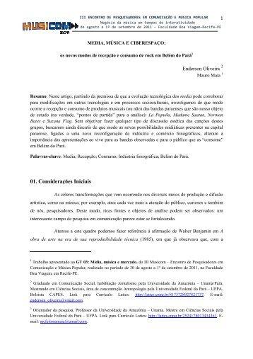 template do iii musicom - Curso de Música - Universidade Federal ...