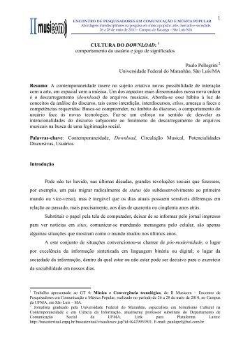 Prezado - Curso de Música - Universidade Federal do Maranhão ...