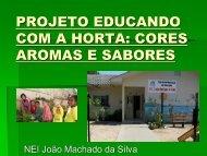 PROJETO EDUCANDO COM A HORTA: CORES AROMAS E ...