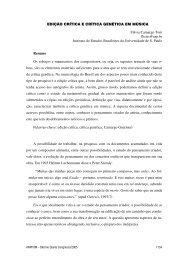 EDIÇÃO CRÍTICA E CRÍTICA GENÉTICA EM MÚSICA ... - Anppom