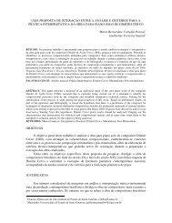 uma proposta de interação entre a análise e critérios para ... - Anppom