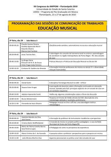 EDUCAÇÃO MUSICAL - Anppom