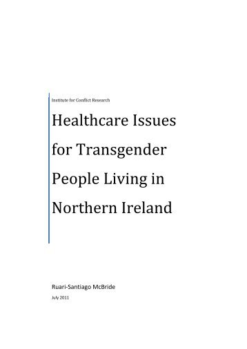 Healthcare Issues for Transgender People Living in Northern Ireland