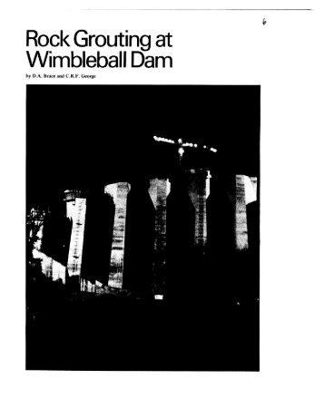Rock grouting at wimbleball dam