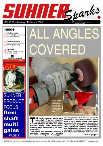 Suhner Sparks Issue No. 20 January-February 2008
