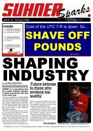 Suhner Sparks Issue No. 10 January-February 2006