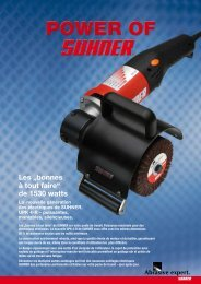 Informations produits - Suhner