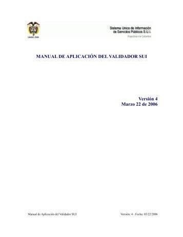 Manual PDF - Sistema Unico de Informacion de Servicios Públicos