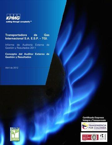 Transportadora de Gas Internacional SAESP – TGI. - Sistema Unico ...