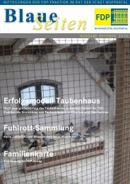 Erfolgsmodell Taubenhaus - FDP-Kreisverband Wuppertal