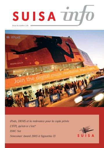 iPods, DRMS et la redevance pour la copie privée L'IFPI, qu ... - Suisa