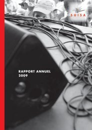 rapport annuel 2009 - Suisa