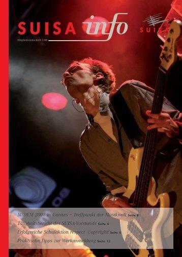 MIDEM 2008 in Cannes – Treffpunkt der Musikwelt Seite 8 ... - Suisa