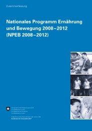 Nationales Programm Ernährung und Bewegung ... - Suisse Balance
