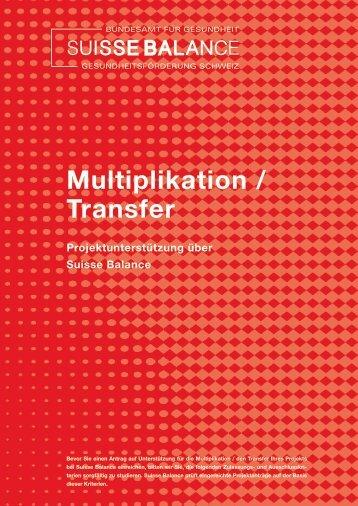 Multiplikation / Transfer - Suisse Balance