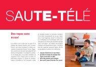 4e/5e années: saute-télé – grossir devant la ... - Suisse Balance