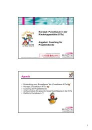 PPT-Präsentation Purzelbaum KiTa - Konzept und ... - Suisse Balance