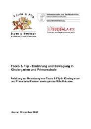 Anleitung zur Umsetzung von Tacco & Flip - Suisse Balance