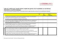 Check-list genre - Suisse Balance