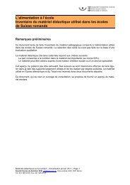 Inventaire du matériel didactique utilisé dans les ... - Suisse Balance