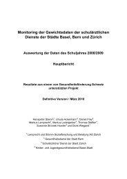 Monitoring der Gewichtsdaten der schulärztlichen ... - Suisse Balance