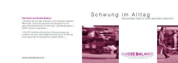 """Suisse Balance Pocket Guide """"Mehr Schwung im Alltag"""""""