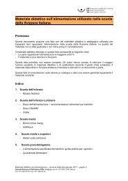 Inventario sul materiale didattico utilizzato nelle scuole della ... - SGE
