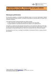 Inventaire des projets réalisés dans les écoles Download - SGE