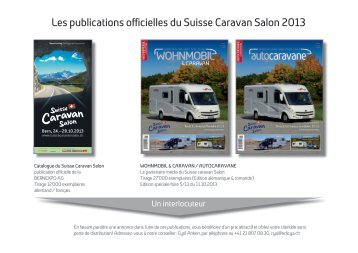 Les publications officielles du Suisse Caravan Salon 2013