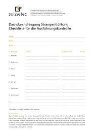 Checkliste Strangentlüftung 251 KB pdf - Suissetec