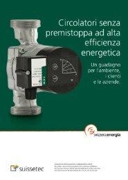 Circolatori senza premistoppa ad alta efficienza energetica - Suissetec