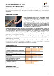 Haustechnikpraktikerin EBA Haustechnikpraktiker EBA