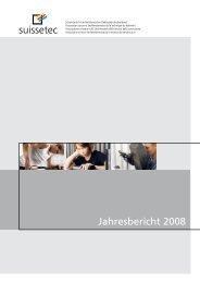 Jahresbericht 2008 - Suissetec