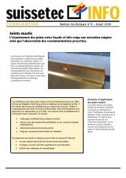 Joints mastic 365 KB pdf - Suissetec