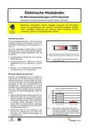 Elektrische Heizbänder - Bundesamt für Energie BFE